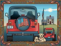Jeep Notecards: Patriotic Jeeps & Jeep Dogs - Set of 12