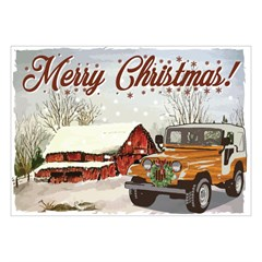 Jeep Holiday Card Winter Barn, Boxed Set of 10