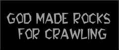 Rockcrawling Decals: God Made Rocks for Crawling
