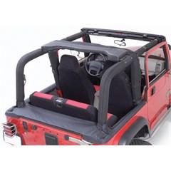 Denim Black Full Roll Bar Cover Kit for Jeep Wrangler YJ (1992-1995)