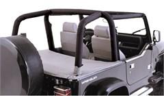 Denim Black Full Roll Bar Cover Kit for Jeep Wrangler TJ (1997-2002)