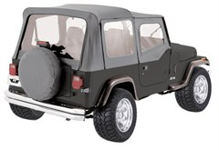 Rampage Complete Soft Top Kit w/Clear Windows YJ 1987-1995