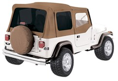 Rampage Complete Soft Top Kit w/Tinted Windows YJ 1987-1995