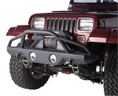 Rampage Front Recovery Bumper w/Stinger-Jeep YJ,TJ,LJ 1987-2006