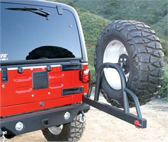 Rear Recovery Bumper w/ Tire Carrier for Wrangler 1987-2006