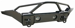 Front Recovery Bumper w/Stinger - Wrangler 2007-2017 Black by Rampage
