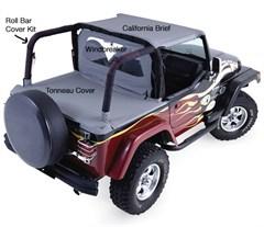 Black California Brief for Jeep Wrangler CJ7 (1976-1986)