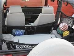 """Jeep Cargo Nets: """"Hang-Tite Roll Bar Cargo Management System"""" - Commuter 12"""" Hammock Net"""