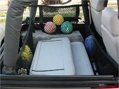 "Jeep Saddlebags 24"" Deep, Hammock Nets Side Roll Bar Mount, Pair"