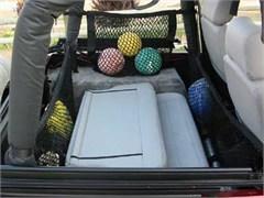 "Jeep Unlimited Saddlebags 24"" Deep, Hammock Nets Side Roll Bar Mount, Pair"