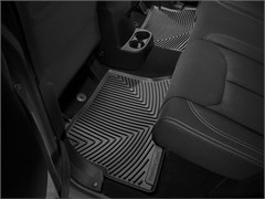 WeatherTech Rubber Mats for Jeep Wrangler JKU 4 Door 2014-2018 Black - Rear