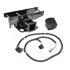Receiver Hitch w/ Wire & Jeep Plug Wrangler 2007-2018 - 2 Inch