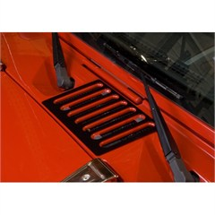 Cowl Vent Cover for Wrangler JK 2007-2017 in Black by Rugged Ridge