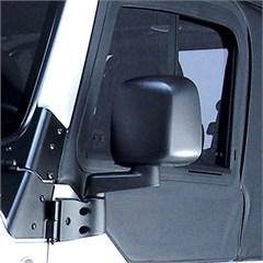 Black Driver Side Mirror for Jeep Wrangler TJ and LJ (1997-2006)