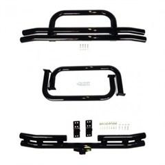 Black Powdercoat Tube Bumper & Side Steps-Jeep CJ7,CJ8 1976-1986