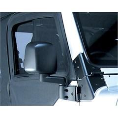 Black Passenger Side Mirror for Jeep Wrangler (1987-2006)