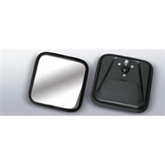 Black Square Convex Mirror Head for Jeep CJ (1955-1986)