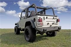 Textured Black XHD Rear Bumper for Jeep CJ, YJ, TJ, LJ