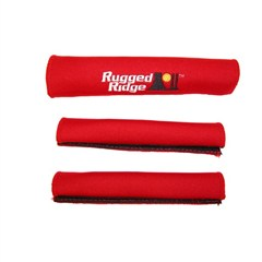 Red Neoprene Grab Handle Covers for Jeep Wrangler YJ (1987-1995)
