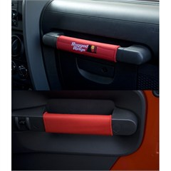 Red Grab Handle Pad Kit for 2 Door Jeep Wrangler JK