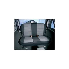 Gray/Black Neoprene Rear Seat Covers- Jeep Wrangler TJ 1997-2002