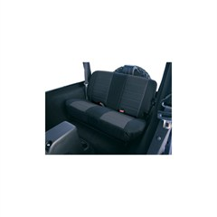 Black Fabric Rear Seat Covers for Jeep Wrangler TJ (1997-2002)