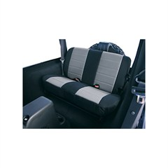 Gray/Black Fabric Rear Seat Covers - Jeep Wrangler TJ 1997-2002