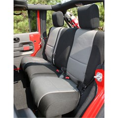 Seat Cover Wrangler JK 2D 2007-2018 Rear Gray Rugged Ridge