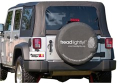 """35-36"""" Inch Black Tire Cover Tread Lightly Edition"""