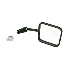 Right Side Black Mirror and Arm for Jeep CJ (1958-1986)