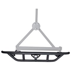 """Rear RRC Bumper w/2"""" Hitch, Tire Carrier for Jeep YJ, TJ, and LJ"""