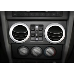 Brushed Silver AC Vent Trim Cover for Jeep Wrangler JK (2007-2010)