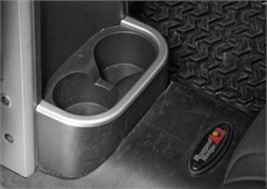 Silver Rear Cup Holder Accent for Jeep Wrangler JK (2007-2010)