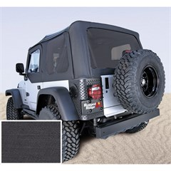 Jeep Wrangler Soft Top, No Drs, Tinted Wndw, BLK Denim (1997-2002)