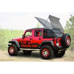 Power Top Soft Top Kit Wrangler JK 4D 2007-2016 Black Rugged Ridge