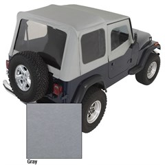 Charcoal Replacement Skin w/Clear Windows & Door Skins YJ 1987-1995
