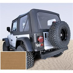 Jeep Wrangler Soft Top, No Drs, Clear Wndw, Spice (1997-2002)