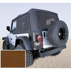 Jeep Wrangler Soft Top, No Drs, Tinted Wndw, Dark Tan (1997-2002)