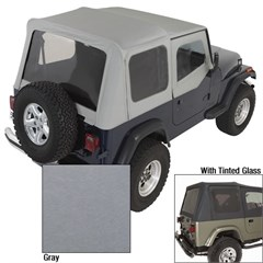 Replacement Soft Top Skin w/Dr Skns Tinted Wndws, Chrcl (1987-1995)