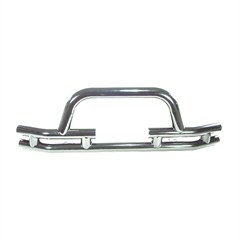 Stainless Front Tube Bumper w/Winch Cut Out- Jeep CJ, YJ, TJ, LJ