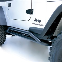 Textured Black RRC Rocker Guards for Jeep Wrangler TJ and YJ (87-06)