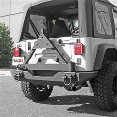 Tire Carrier Add-On for XHD Rear Bumper, Jeep CJ, YJ, TJ and LJ