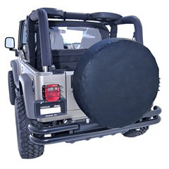 """Tire Cover, 30""""-32"""" Inches, Solid Black"""