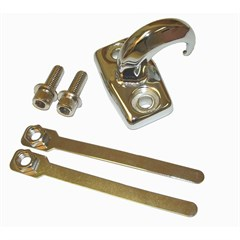 Tow Hook for Jeep Wrangler, Rear in Chrome (1997-2006)