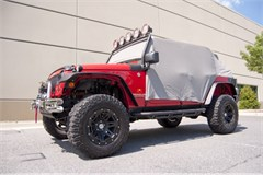 Water Resistant Cab Cover Wrangler JK 2D 2007-2018 Gry Rugged Ridge