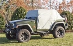 Weather Lite Cab Cover Wrangler JK 2D 2007-2017 Gray Rugged Ridge
