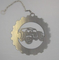 Rustic Metal Jeep Wind Chain (Single - Side Facing)