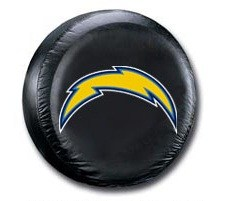 San Diego Chargers NFL Tire Cover - Black Vinyl