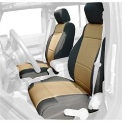Neoprene Front Seat Covers Wrangler JK 2011-2017 Black and Tan