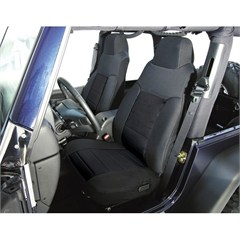Black Front Fabric Seat Covers for Jeep CJ and YJ (1987-1990)
